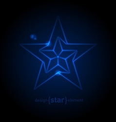 Abstract glow blue star vector