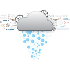 Internet cloud technology vector