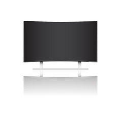 Modern curve led television vector