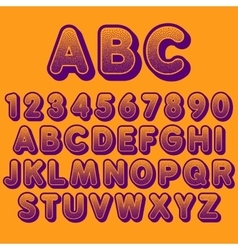 Stock font pointillism letters and numbers vector