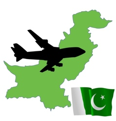 Fly me to the pakistan vector