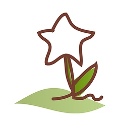 A star shaped flower vector image vector image