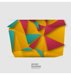 abstract background Origami geometric vector image vector image