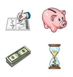 Bank business schedule bundle of notes time vector