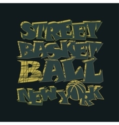 Basketball t-shirt graphic design New York vector image vector image