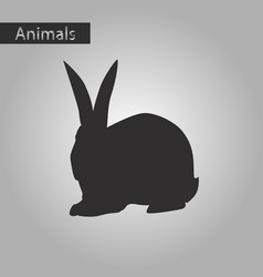 Black and white style icon of rabbit vector