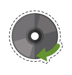 cartoon compact disk digital game vector image