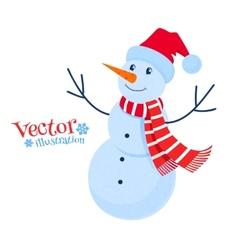 Cute snowman vector image