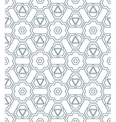 dark monochrome color outline abstract geometric vector image vector image