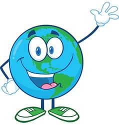 Earth cartoon design vector