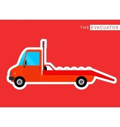 Evacuator truck isolated vector image vector image