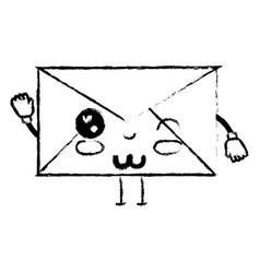 figure kawaii cute funny e-mail message vector image
