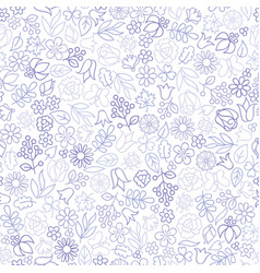 Flower seamless pattern floral icon background vector