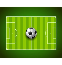 Football field with ball background design vector image