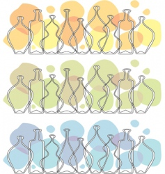 Frieze glass bottle vector