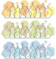 frieze glass bottle vector image vector image