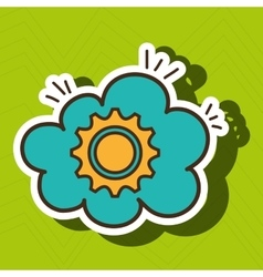 gear wheel cog cloud vector image