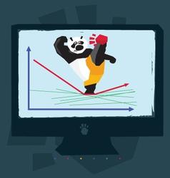 google panda vector image vector image