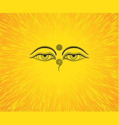 Graphic of buddhas eyes vector