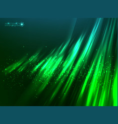 Green aurora polar light abstract vector