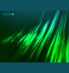 Green aurora polar light abstract vector image