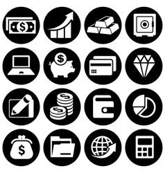 Infographic money set vector
