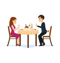 Male wants make offer girl in romantic atmosphere vector