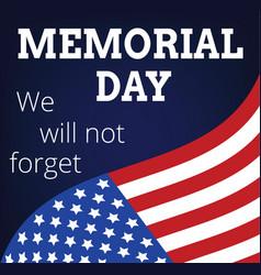memorial day vector image vector image