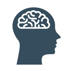 Peronal IQ - head with brain intelligence vector image vector image
