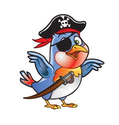 Robin bird pirate vector
