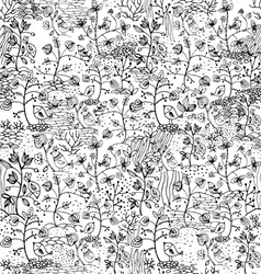 seamless pattern with birds vector image vector image