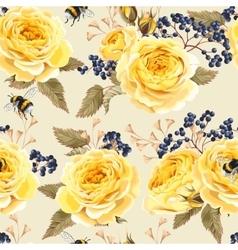 Seamless vintage flowers vector