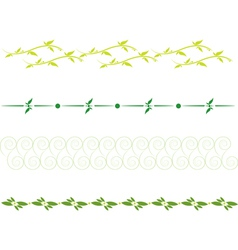 set of dividing lines vector image