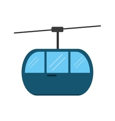 Sky cable car transport mountain vector