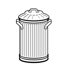 Trash can isolated wheelie bin on white vector