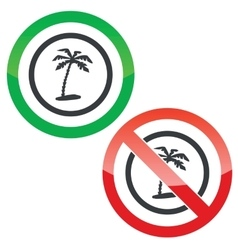 Vacation permission signs vector