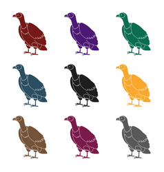 vulture icon in black style isolated on white vector image