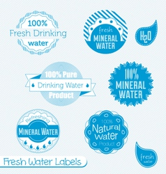Water Labels Set vector image vector image