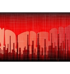 Blood city grunge vector