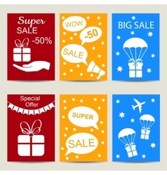 Sale banners isolated set vector image
