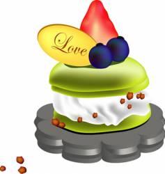 Creamy puff cake vector
