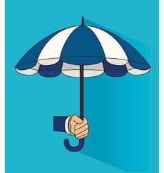 Umbrella design over blue background vector