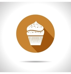 Cupcake icon eps10 vector