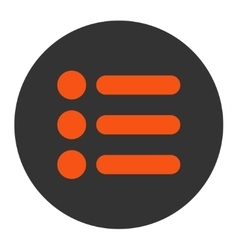 Items flat orange and gray colors round button vector
