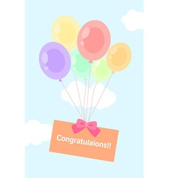 Balloon sky vector