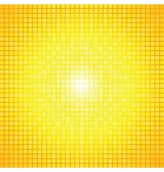 Abstract yellow light burst mosaic vector
