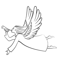Angel contour vector