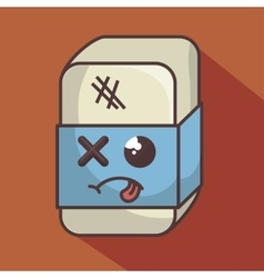 Eraser funny character isolated icon design vector