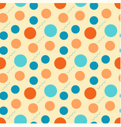 abstract pattern with retro circles on a light vector image vector image