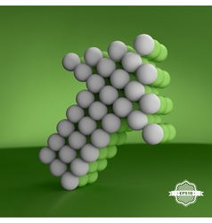 Arrow Business concept Spheres forming an arrow vector image